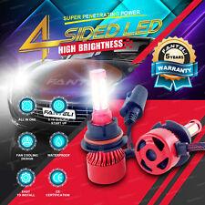 Pair 9007 2300W 345000LM 4-Side CREE LED Headlight Kit High/Low Beam Bulbs 6000K