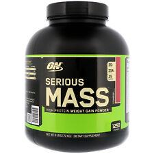 Optimum Nutrition  Serious Mass  High Protein Weight Gain Powder  Strawberry  6
