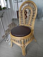 Stuhlkissen rund 40 Ø cm x 4 cm Sitzkissen dunkelbraun, Kunstleder