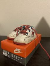Vintage 1993 Nike Trainer Tot Shoes Toddlers Size 2C (150196-161) White Coral