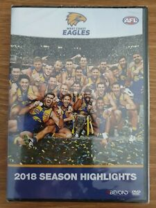 West Coast Eagles 2018 AFL Season Highlights DVD New