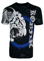 Konflic Men's Tiger Graphic Designer MMA Muscle T Shirt With Foil Highlights