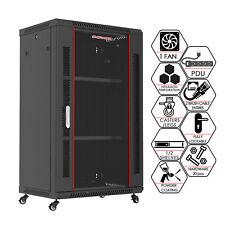 "18U 24"" Deep It Wall/Floor Standing Server Rack Cabinet Enclosure"