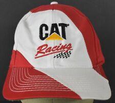 White CAT Racing Caterpillar baseball hat cap Adjustable Snapback