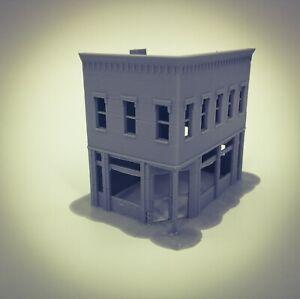 20th Century Town City CORNER MARKET Building - Z Scale 1:220 - 3D Printed Model