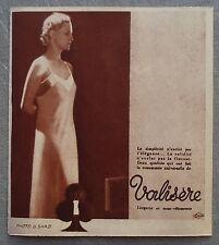 Publicité VALISERE gaine corset  1935  french advert