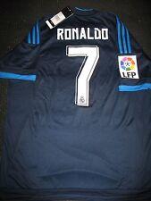 Authentic Real Madrid Ronaldo Blue 2015 2016 Jersey Camiseta Shirt Size L NEW!!