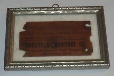 RARE Original Knoxville Furniture Co. Paper Tag Label In Frame