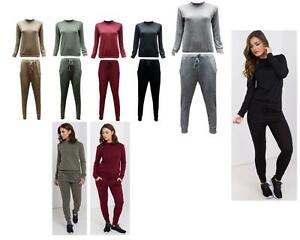 New Womens Ladies Two Piece Turtle Neck Tracksuit Size 8-14