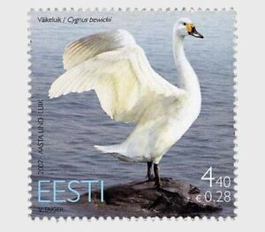 ESTONIA 2007 BIRD THE SWAN COMP. SET OF 1 STAMP IN MINT MNH UNUSED CONDITION