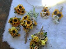 Wedding flowers bridal bouquet decorations sunflowers Daisy rose