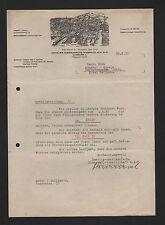 Hamburgo, carta 1932, Hamburgo-americana aceite mineral-GmbH hamig