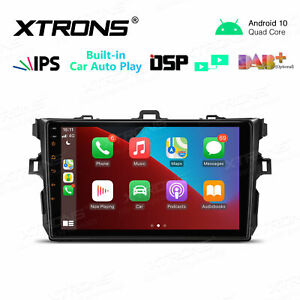 """XTRONS IPS 9"""" Android 10.0 Car GPS Radio Stereo DSP For Toyota Corolla 2007-2013"""