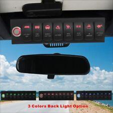 Voswitch Jeep Wrangler JK & JKU 2007-2018 Overhead 8-Switch Panel Red Light