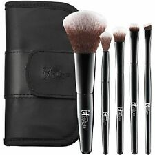 IT BRUSHES FOR ULTA Your Face & Eye Essentials Mini 5 Pc Travel Brush Set NEW