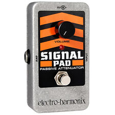 Electro-Harmonix Nano Signal Pad Passive Attenuator Guitar Effects Pedal +Picks