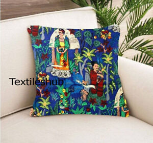 Indian Frida Khalo Print Cushion Cover Home Décor Covers 24x24 Pillow Case Cover