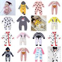 Newborn Infant Baby Cartoon Romper Jumpsuit Boy Girls Bodysuit Clothes Outfits