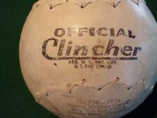 Vintage Old Softball - DeBeer & Sons Official Clincher Softball No. F16