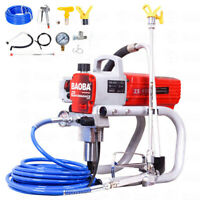 1500W 2HP High Pressure Airless Spray Paint Gun Sprayer Spraying Machine 220V