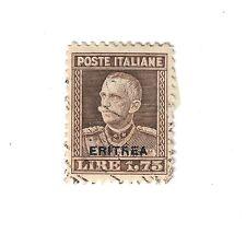 eritrea 1.75 lire soprastampato n°137 1928-1929 usato fra.841
