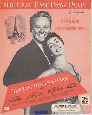 La última vez que vi Paris protagonizada por Elizabeth Taylor - 1954 Partituras