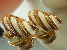 Classy Vintage 1960s Enamel Earrings 77K