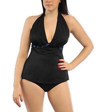 Longitude Tankini Swimsuit Set S SMALL Women's Leaping Lizard Twist Halter 4 6