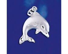 Sterling Silver Dolphin Pendant Marine Mammal Ocean Charm Solid 925 Italy New