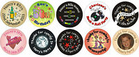 48 custom personalised birthday / party stickers for adults & teenagers