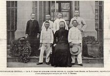 TANANARIVE CURE CREOLE COLLEGE ST MICHEL VICAIRE MADAGASCAR IMAGE 1902 OLD PRINT