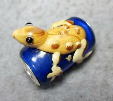 .925 MURANO GLASS BEAD FOR Charm European Bracelet Happy Lucky Toad Frog