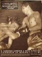 Miroir sprint n°180 - 1949 - Boxe Famechon Ortiz - Foot Lille Nancy - Nimes