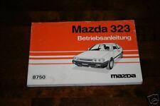 Betriebsanleitung Mazda 323 - Stand 1986