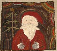 MY OLD SANTA ~PRIMITIVE RUG HOOKING PAPER PATTERN~
