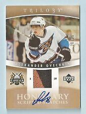 ALEXANDER OVECHKIN 2006/07 TRILOGY HONORARY RC SCRIPTED SWATCHES JERSEY AUTO /25
