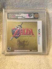 Sealed The Legend of Zelda Ocarina of Time 3D Not For Resale VGA Graded 85+ Gold
