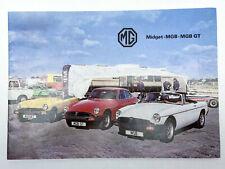 MG Car brochure Midget MGB MGB GT 1978