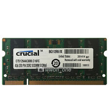 New 4GB PC2-6400 DDR2 800 MHz 200pin PC6400 SODIMM Laptop Memory RAM NON-ECC