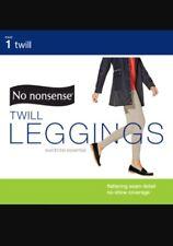 NEW No Nonsense Black Twill Leggings Flattering Stretch Size Medium 8-10 pants