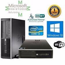 HP ELITE 8100  CORE i3 3.10GHZ WINDOWS 10 hp 64 8GB 500GB DESKTOP COMPUTER Wifi