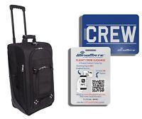 Pilot/Flight Attendant Lightweight Crew Luggage with Free Smart CREW Luggage Tag