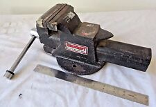 "DURACRAFT 4"" INCH BENCH VISE CLAMP AND ANVIL 2 IN 1 BENCH MOUNT CAST IRON"
