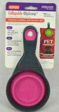 NEW Pink KlipScoop Collapsible 1-Cup Scoop & Bag Clip Combo for Dog Cat by Dexas