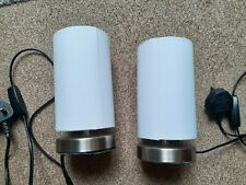 Bedside lamps pair used Argos