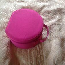 Beauty Box/Cosmetici Custodia/Gioielli/MAKE-UP CASE. Rosso Ciliegia Rosa. NEW