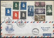 South Africa: 1952; Cover by KLM, Amsterdam, Netherlands stamps, EBSA002