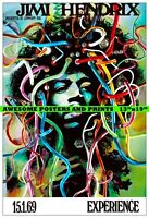 "JIMI HENDRIX - Gunther Kieser Stuttgart Concert Poster. LARGE REPRINT 13""x19"""