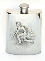 Bowls Pewter Hip Flask 6oz Gift Boxed FREE ENGRAVING Made in Sheffield NEW