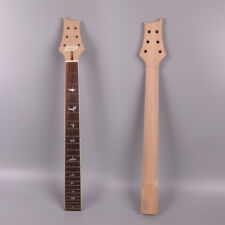 "unfinished Diy Electric Guitar Neck 24 fret 25.5"" Mahogany+Rose wood#P13"